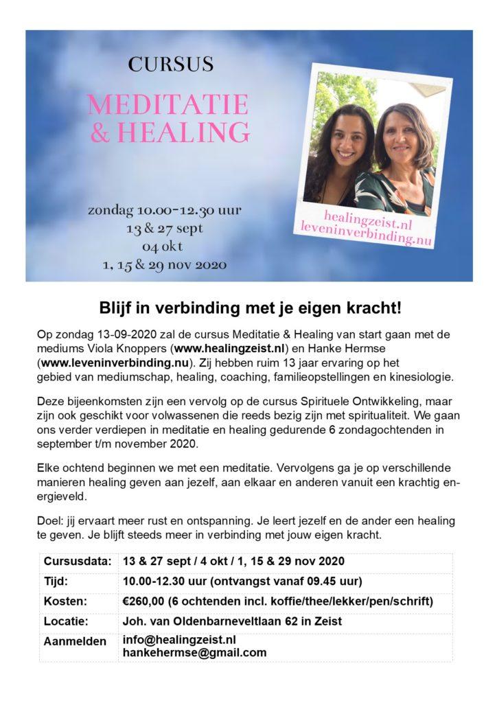 cursus Meditatie & Healing najaar 2020 Touch of Angels